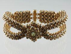 Cool Metal Bracelet with Diane Dennis #bead #stitching #finishing