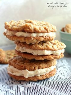 Oatmeal Sandwich Cookies with Maple Buttercream | www.chocolatewithgrace.com
