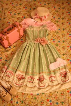 asecondtoforever: Made a country lolita coord with my new jsk!~ I think I'm going to wear this to go on a boat ride down the Sacramento Riv...