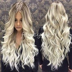 New Brazilian Remy Human Hair Wigs Ombre Blonde Wavy Lace Front Full Lace Wigs
