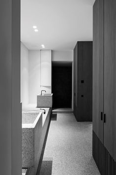 BA Residence is a minimal home located in Wilrijk, Belgium, designed by Vincent Van Duysen