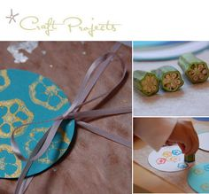 Printing with Okra (vegetables). Sweet idea not only for kids. #blockprinting #textile