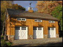 Barn/Garage. I'm convinced that marriages last longer with a detached garage/man cave. Plus you don't have to have all their guy crap in your pretty house :)