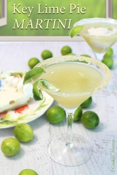 "Add a touch of the Florida Keys to your martini with this ""pie in a glass"" key lime pie martini. A refreshing cocktail with the tartness of key limes. via @2CookinMamas"