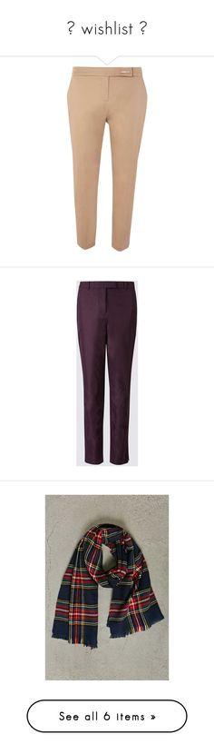 """""""★ wishlist ☆"""" by zaiee on Polyvore featuring pants, white, white trousers, dorothy perkins, white pants, chino trousers, straight leg pants, chino pants, cotton trousers and purple pants"""
