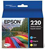 Epson T220520 DURABrite Ultra Color Combo Pack Standard Capacity Cartridge Ink (WF-2760, WF-2750, WF-2660, WF-2650, WF-2630, XP-424, XP-420, XP-320)