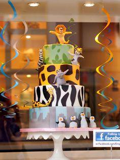 Madagascar cake Para mi sobrino del alma...que se lo haga su kerida ita!!!