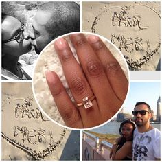 """We're Getting Married💓💍!! #Isaidyes#mysoulmate#iloveyou"" - Gorgeous interracial couple announced their engagement to family and friends on Instagram #love #wmbw #bwwm #swirl #proposal #engagement #wedding #lovingday #relationshipgoals"