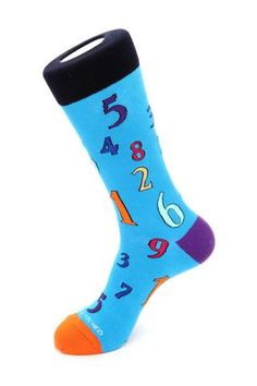 Numbers Sock, Blue Socks, Blue Unsimply Stitched Socks Blue Socks, 2 Ply, Color Patterns, Numbers, My Style, Heels, Cotton, Collection, Design
