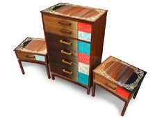 upcycled furniture   upcycled furniture w/ vintage illustrations