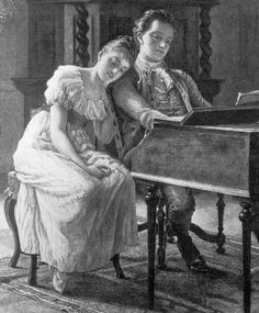 """Classical artists Felix and Cécile Mendessohn married in 1837. Years later, Felix said: """"I am sitting here at the open window, looking into the garden at the children, who are playing. We have early strawberries for breakfast, at two we dine, have supper at half-past eight in the evening, and by ten we are all asleep. And, to sum up, the best part of every pleasure is gone if Cécile is not there."""" Felix wrote this love duet for Cecile: https://www.youtube.com/watch?v=_zMzx3emV5w"""