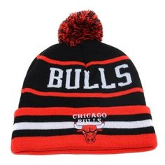 cf0246ebf9680 NBA Chicago Bulls knit size fits most colors and logos 100 % Acrylic