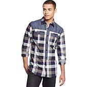 Sean John Big & Tall Contrast Check Shirt