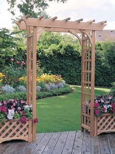 The Arboria Rosedale 7-ft. Cedar Pergola Arbor is a well-proportioned and handsomely detailed pergola-style arbor. This arbor is constructed with beautiful