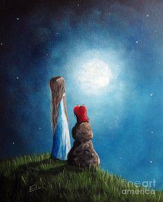 Cute Painting - Were Ok Now By Shawna Erback by Shawna Erback