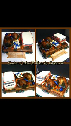 Dirt Bike Themed Cake (in a pieces)