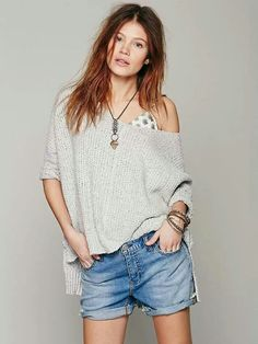 c529e0e770d8 Free People Chunky Oversized Pullover Fringe Kimono, Boho Outfits, Sweater  Weather, Cold Weather
