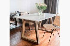 Olivia D presenta su exclusiva Mesa Mali Wood Carrara