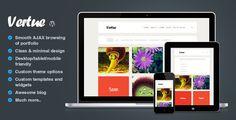 Vertue - clean and minimal AJAX portfolio theme - ThemeForest Item for Sale