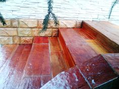 """concrete """"wood like"""" stairs - rustique - made out from concrete"""
