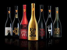 different graphic wine bottle designs