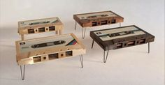 Me So Nerdy: Custom Cassette Tape Shaped Coffee Tables