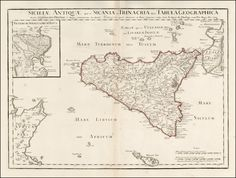 Sicily 1714  Barry Lawrence Ruderman Antique Maps Inc.