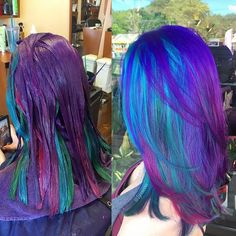 We've gathered our favorite ideas for 27 New Ideas For Peacocks Hair Color Ideas Top Hairstyle, Explore our list of popular images of 27 New Ideas For Peacocks Hair Color Ideas Top Hairstyle in peacock hair highlights. Peacock Hair Color, Vivid Hair Color, Cool Hair Color, Galaxy Hair Color, Hair Colors, Funky Hairstyles, Pretty Hairstyles, Hairstyle Ideas, Hair Ideas