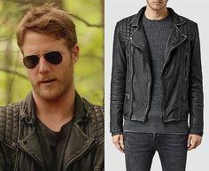 0807d7cc46c0 Brian Finch (Jake McDorman) wears an AllSaints Cargo Leather Biker Jacket  in the color Black/Grey in Limitless Season 1 Episode 7