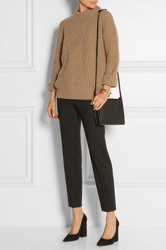 Calvin Klein Collection | Waffle-knit camel hair sweater | NET-A-PORTER.COM