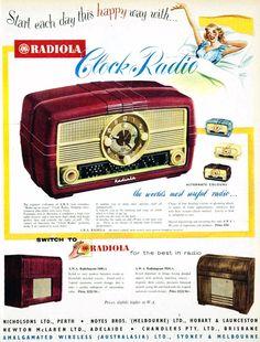Radiola clock-radio - 1954
