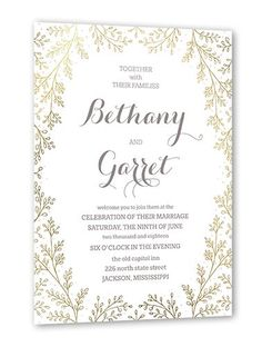 Botanical Luster Radiance 5x7 Stationery Card by Smudge Ink. Send guests a wedding invitation that perfectly expresses your style. All you need are the details of your big day.