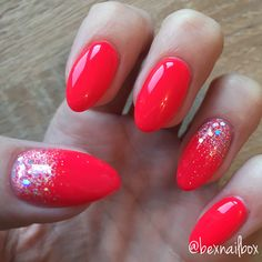 Bluesky Polish - Neon 25 Fruit Twist Magpie Glitter - Tara #nails #bluesky #blueskynails #magpieglitter #gelnails #glitter #red