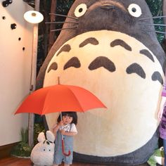 Life-size Totoro figure. I've been meaning to make a 2D version for Maia's room as a Height Chart as she grows up... #Inspiration
