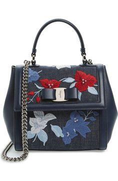 SALVATORE FERRAGAMO . #salvatoreferragamo #bags #shoulder bags #hand bags #denim #leather #satchel #