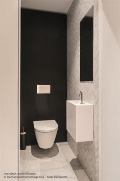 Toilet And Bathroom Design, Small Toilet Design, Washroom Design, Bathroom Design Luxury, Modern Bathroom, Small Bathroom, Small Downstairs Toilet, Small Toilet Room, Minimalist Toilets