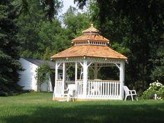 Custom gazebo by Flamborough Patio Furniture Gazebo, Outdoor Structures, Patio, Furniture, Kiosk, Yard, Terrace, Home Furnishings, Pavilion