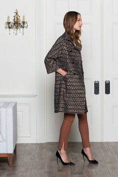 wool tweed gusset coat from emerson fry