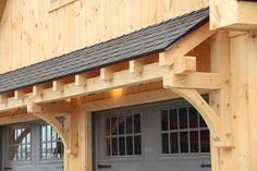 Timber Frame Eyebrow Roof Detail In 2019 Garage Pergola