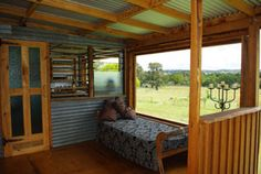 Sun lounge in a renovated Aussie Shearing Shed