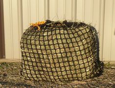Slow Feed Hay Net, Mesh - No knots netting - by Hay Burners Equine LLC Hay Feeder For Horses, Horse Hay, Dream Barn, Knots, Mesh, Bags, Handbags, Bag, Buttons