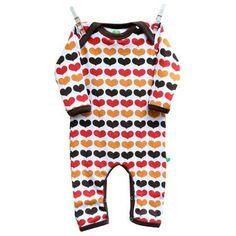 Autumn Hearts Jumpsuit - ittikid • Scandinavian Children's Clothes - Scandinavian Baby and Kids Clothes | Organic Eco Friendly Kids Clothes from Smafolk, Maxomorra, Duns Sweden, Sture & Lisa
