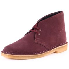 check out 7c45b 66f02 Clarks-Originals-Desert-Boot-Mens-Suede-Wine-Ankle-Boots-New-Shoes-All-Sizes