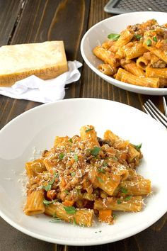 Sicilian lentil pasta is a light and easy dish that is a little like a lentil bolognese with a nice bite from mushrooms and a lot of flavor from pancetta.