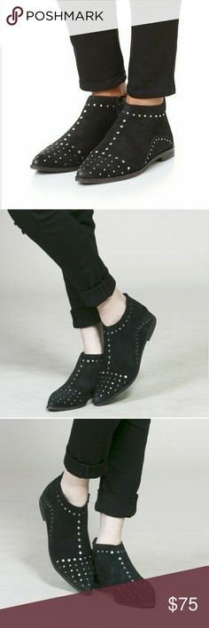 Free People Womens Aquarian Bootie Sz 7. Gently used. Studs in tact. Black suede. Free People Shoes