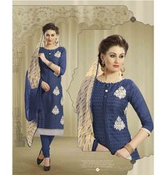 Cotton Churidar Suits Neck Gala Designs for Girls