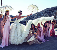 Photos from Giovanna Battaglia's Over-the-Top Wedding to Oscar Engelbe | W Magazine