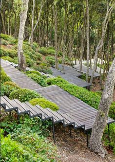 I could have a hillside of terraced decks instead of trying to build retaining walls.  I could have a great place for all kinds of container gardening stuff.