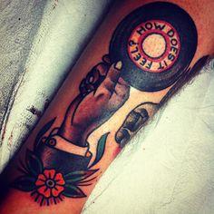 #tattoo #vinyl #records
