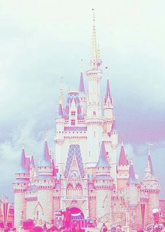 disney, castle, and pink 이미지